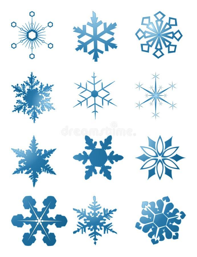 Flocons de neige image libre de droits