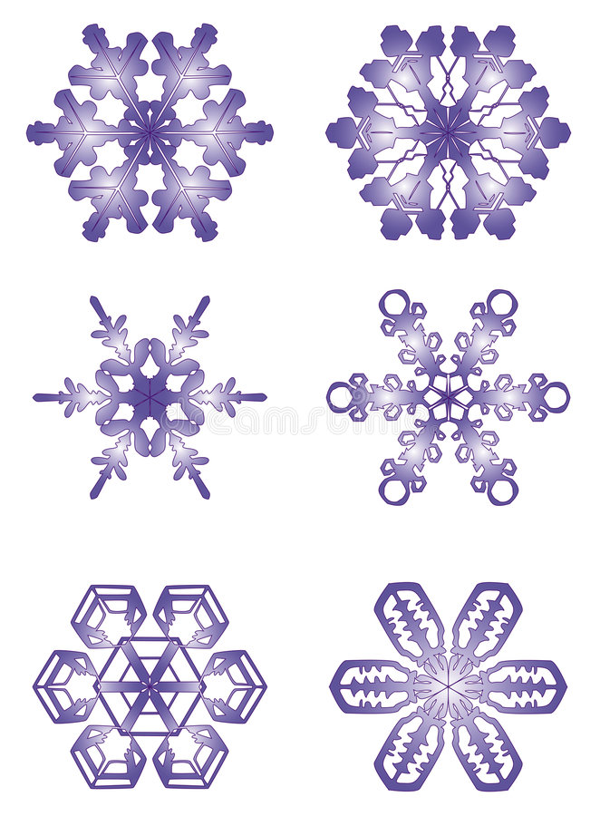 Flocons de neige illustration de vecteur