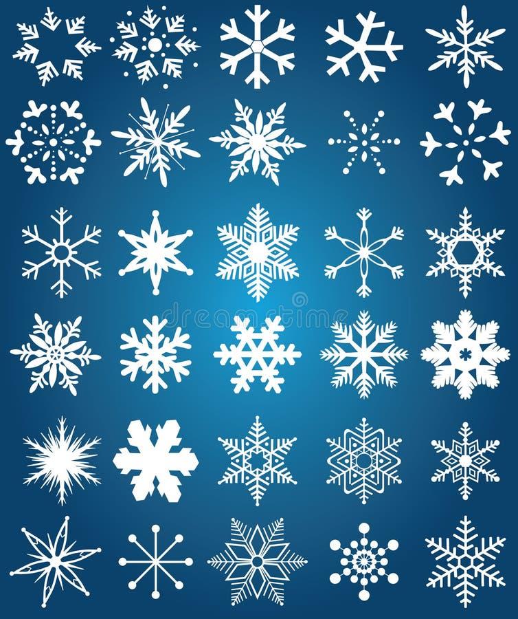 Flocons de neige photo libre de droits