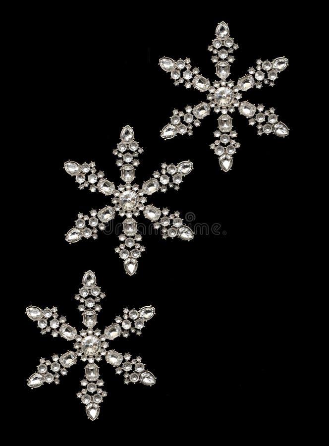 Flocons de neige 3 - verticale photo libre de droits