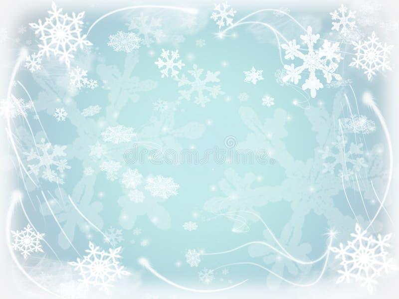 Flocons de neige 5 illustration de vecteur