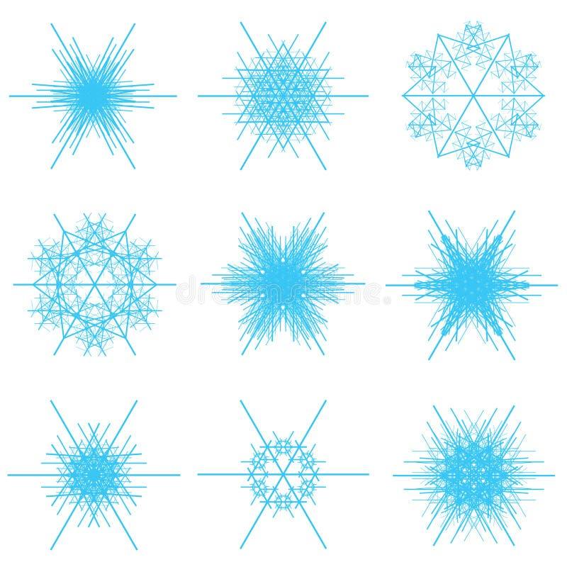 Flocons de neige bleus illustration stock