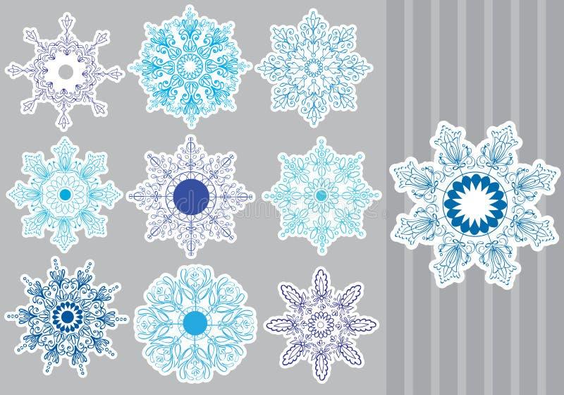 Flocons De Neige Décoratifs Réglés Image stock