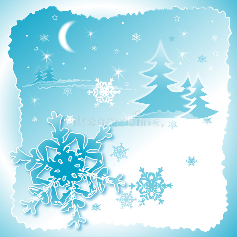 Flocons de neige dance2 illustration stock