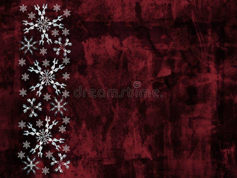 flocons de neige de grunge de fond illustration de vecteur