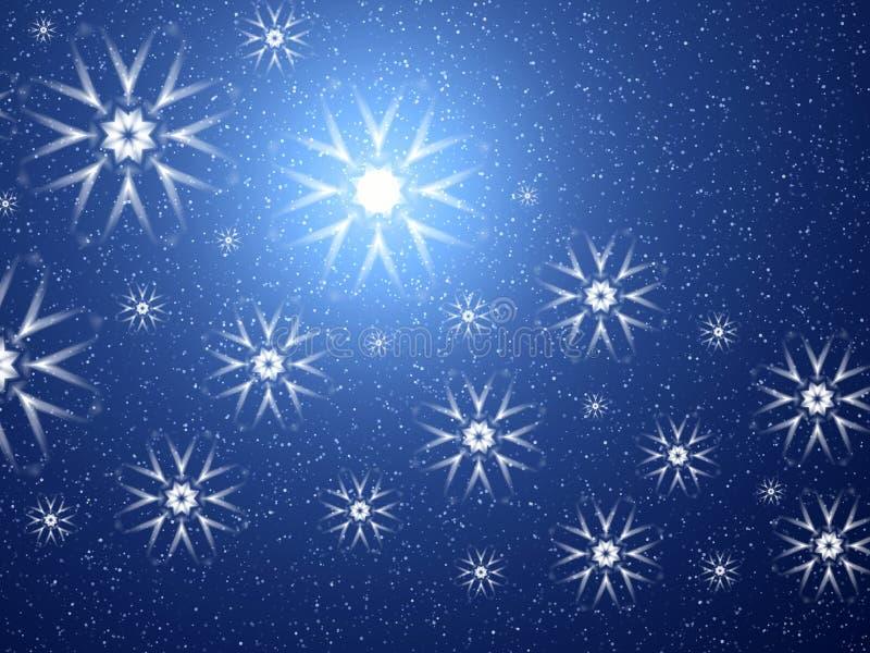 Flocons de neige de l'espace illustration libre de droits