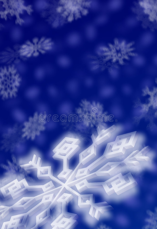 Flocons De Neige De Noël Image stock
