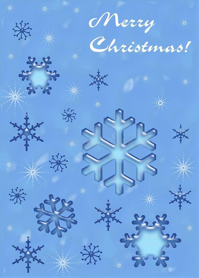 Flocons de neige de Noël illustration stock