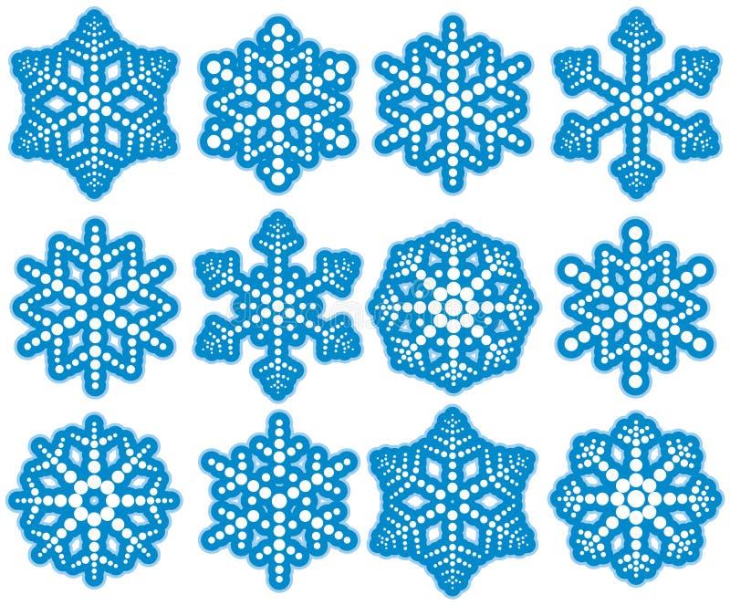 Flocons de neige de point illustration stock