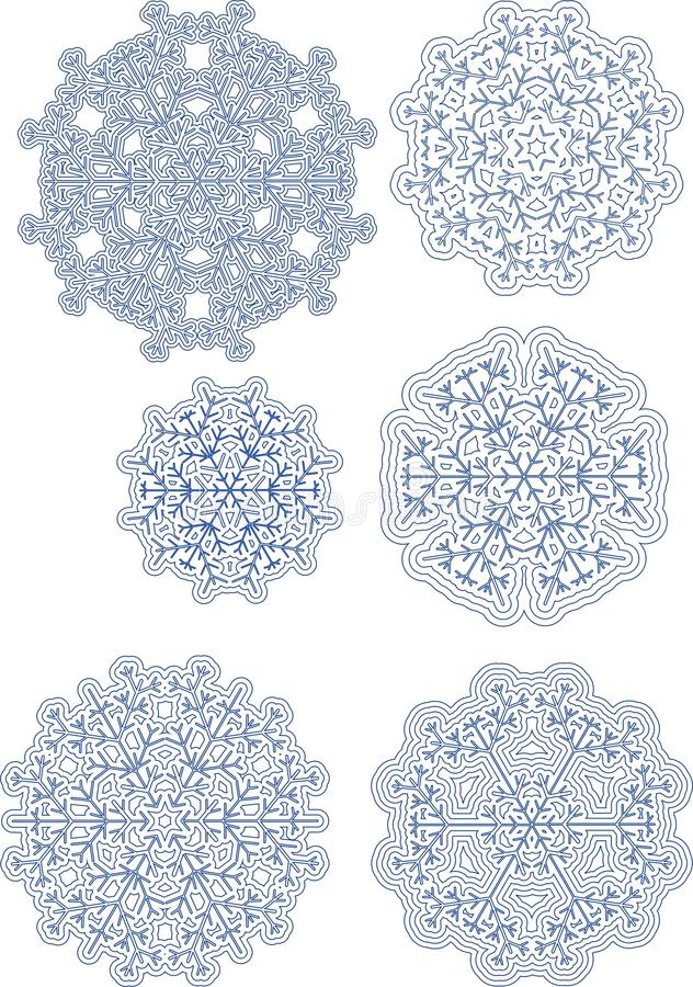 flocons de neige divers photos libres de droits