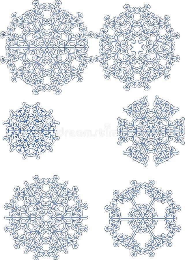 flocons de neige divers photographie stock