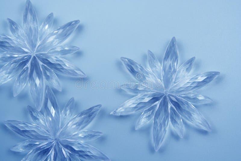 Flocons de neige en cristal images libres de droits