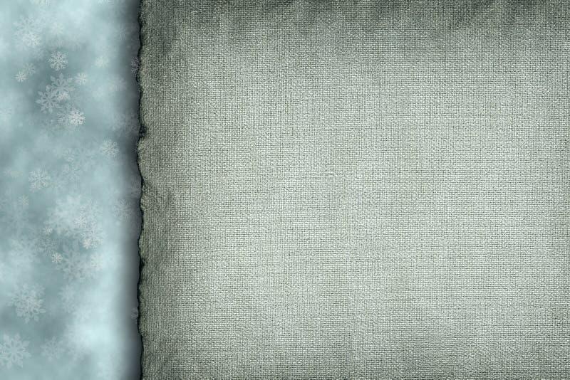 Flocons de neige et feuille de papier blanc photo stock