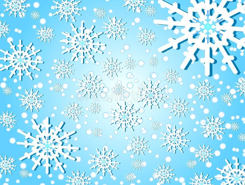 Flocons de neige et Noël illustration de vecteur
