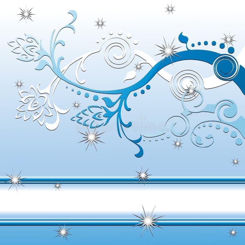 Flocons de neige l'hiver ou scène de fond de Noël illustration libre de droits