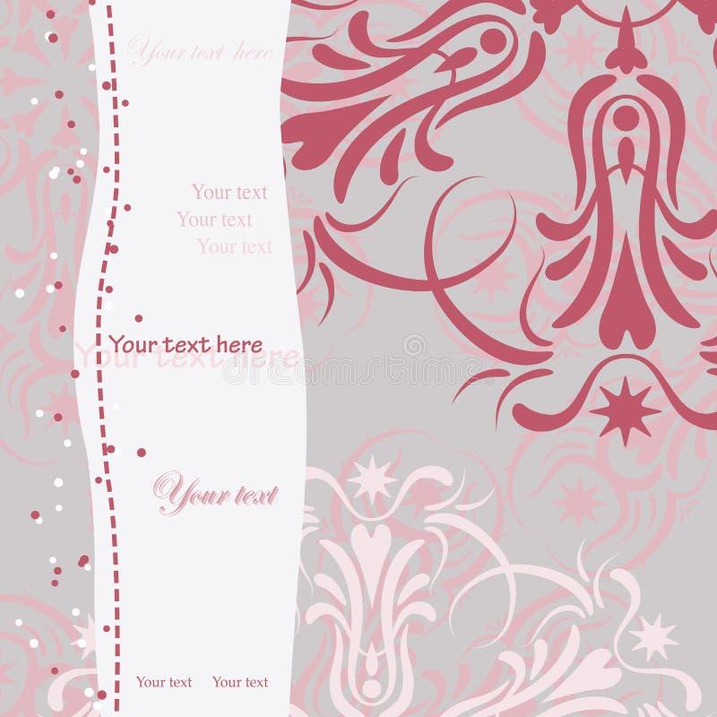 Flocons de neige roses illustration libre de droits