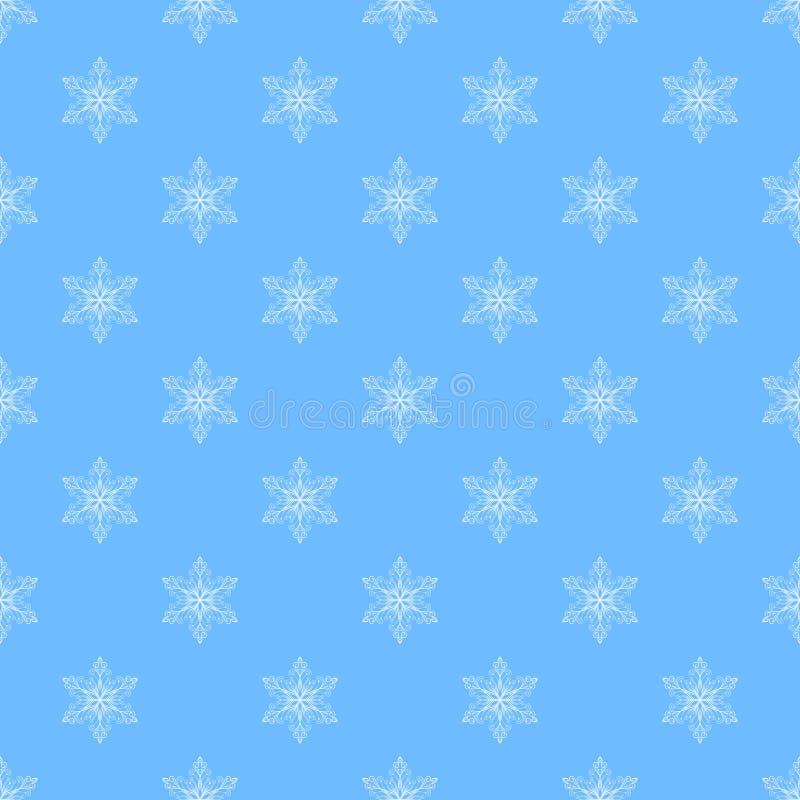 flocons de neige sans joint de configuration illustration stock