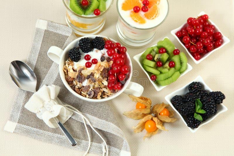 Flocons et fruit image stock