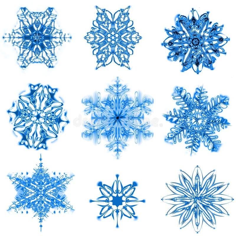 Flocos da neve ilustração stock