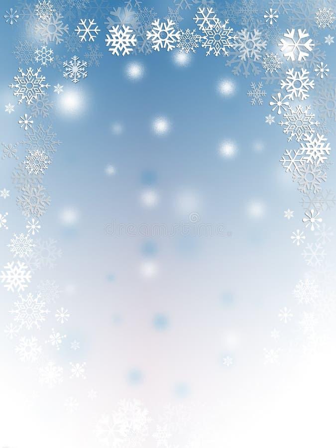 Flocos da neve ilustração royalty free