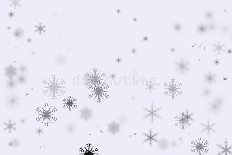 Flocos da neve de Bokeh e fundo branco fotos de stock royalty free