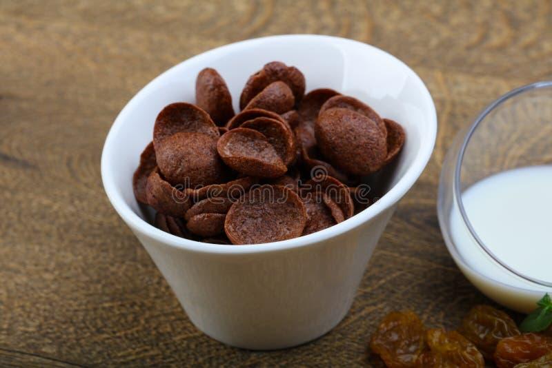 Flocos de milho de Choco fotos de stock royalty free