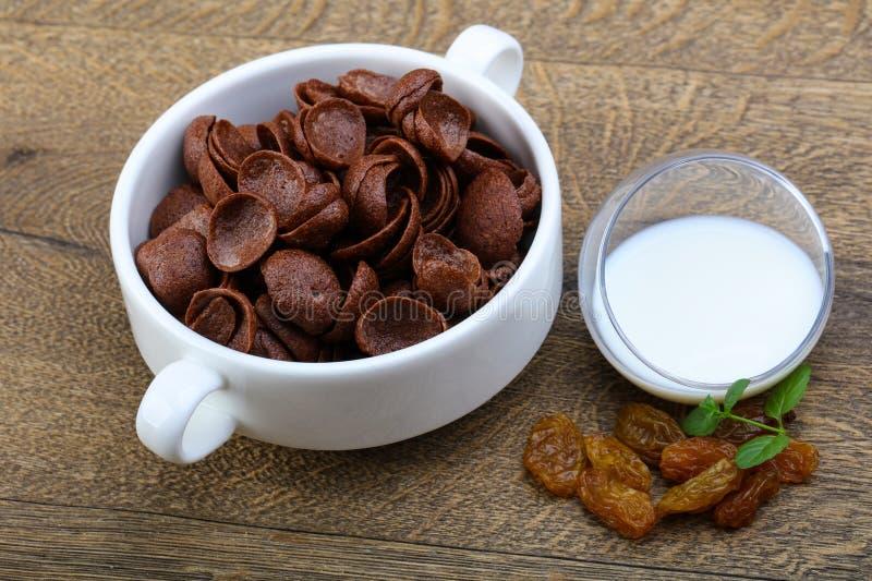 Flocos de milho de Choco imagens de stock