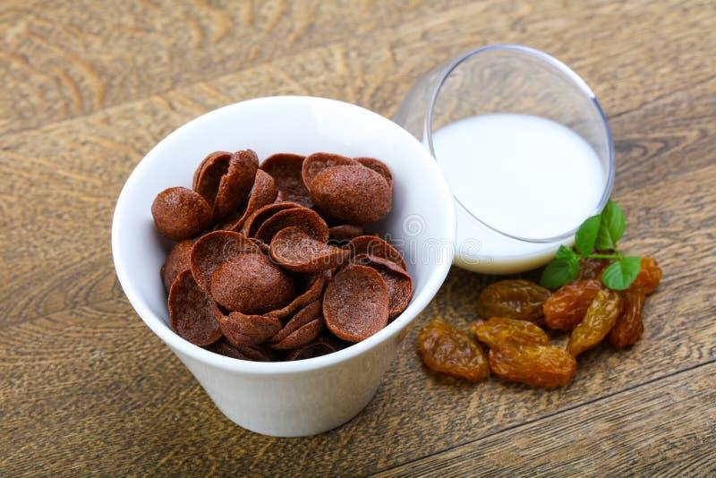 Flocos de milho de Choco fotos de stock