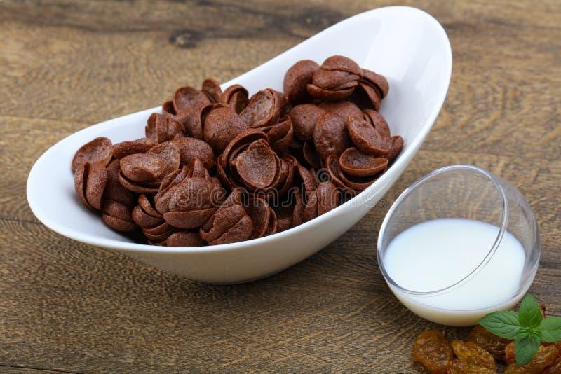 Flocos de milho de Choco foto de stock