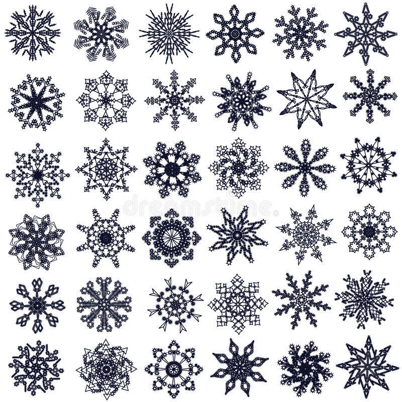 Flocos de neve. ilustração do vetor