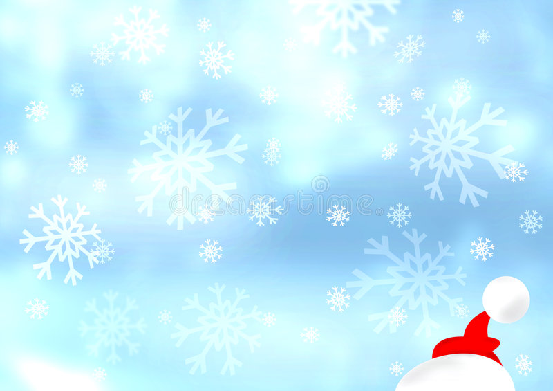 Flocos de neve ilustração royalty free
