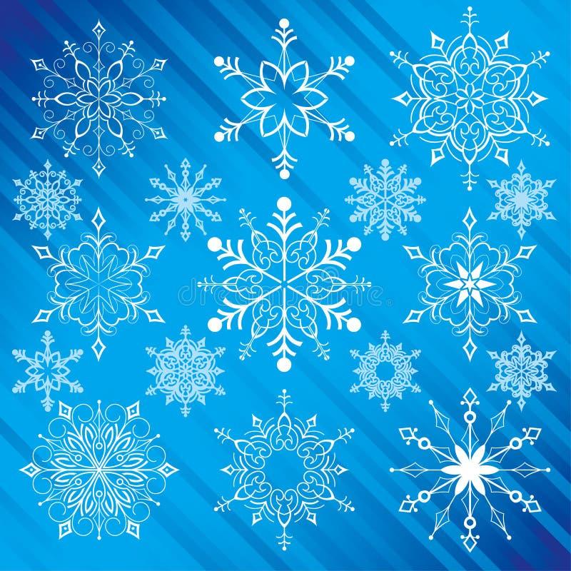 Flocos de neve ilustração do vetor