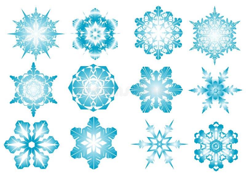 Flocos de neve azuis ilustração stock