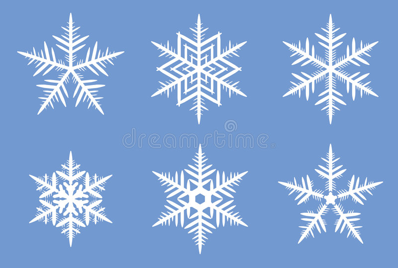 Flocos de neve bonitos. fotografia de stock royalty free