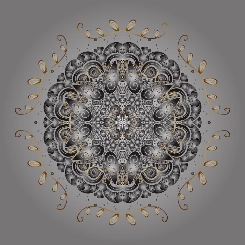 Flocos de neve bonitos isolados no fundo colorido ilustração royalty free