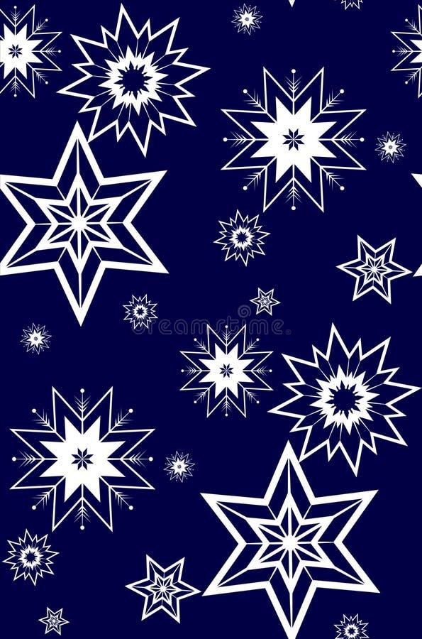 Flocos de neve brancos ilustração stock