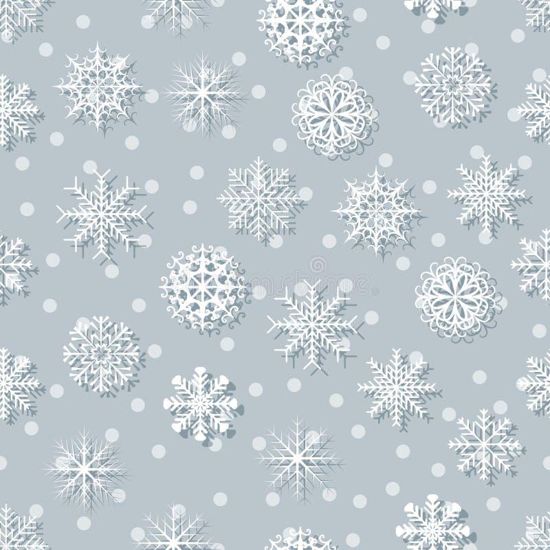 Flocos de neve brancos sem emenda ilustração stock