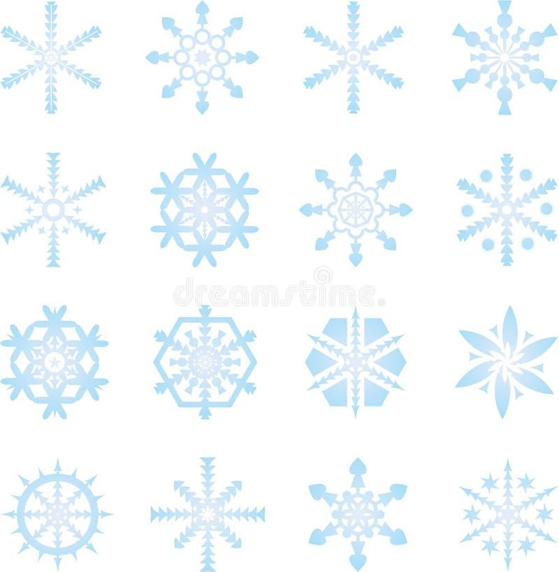 Flocos de neve congelados ilustração royalty free