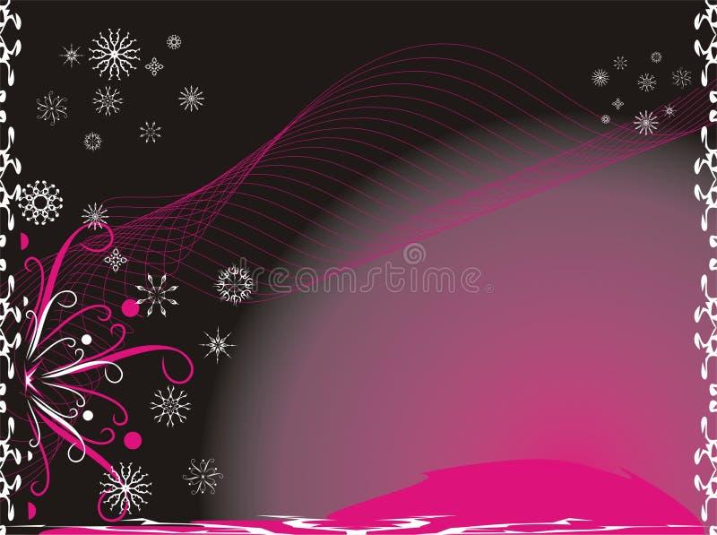 Flocos de neve. Creativo. Fundo do Natal ilustração do vetor