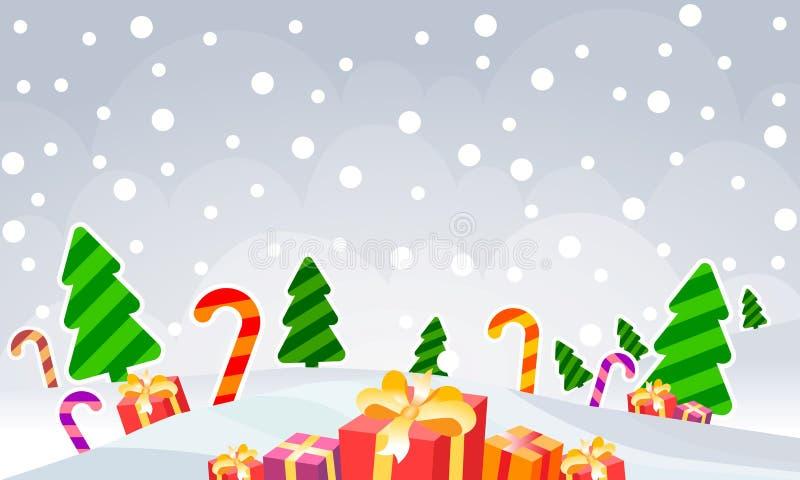 Flocos de neve da ilustração do vetor Fundo do ano novo ilustração do vetor
