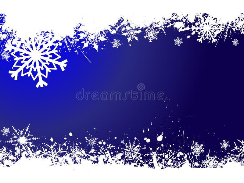 Flocos de neve de Grunge ilustração stock