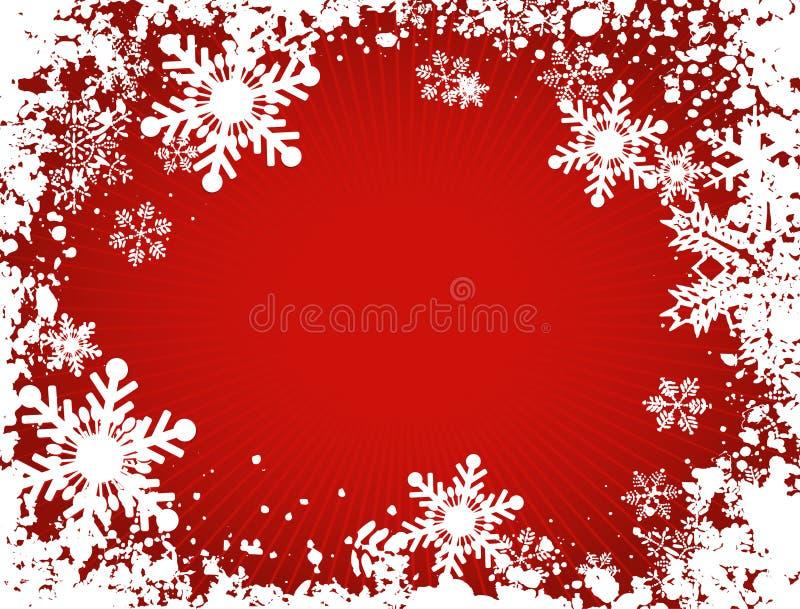 Flocos de neve de Grunge ilustração do vetor
