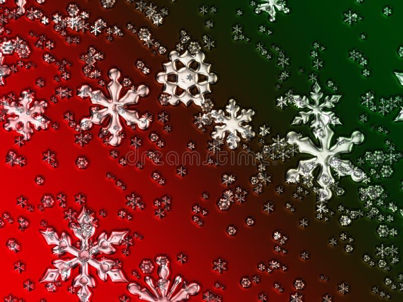 Flocos de neve de vidro do Natal ilustração royalty free