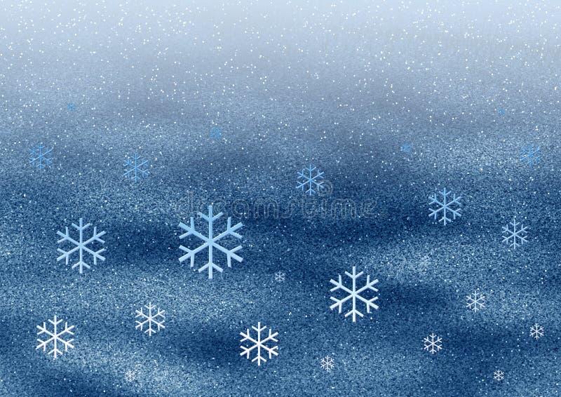 Flocos de neve do espaço ilustração do vetor