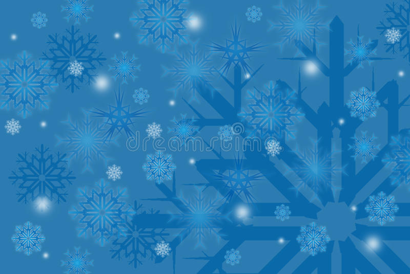 Flocos de neve do inverno no fundo ilustração royalty free