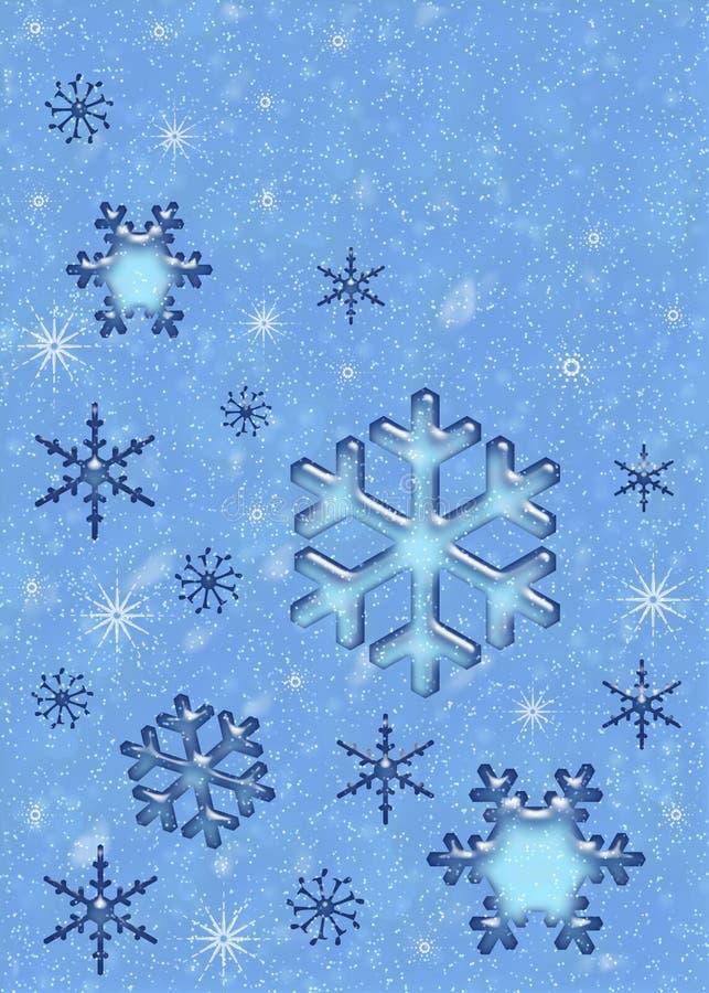 Flocos de neve do Natal. ilustração royalty free