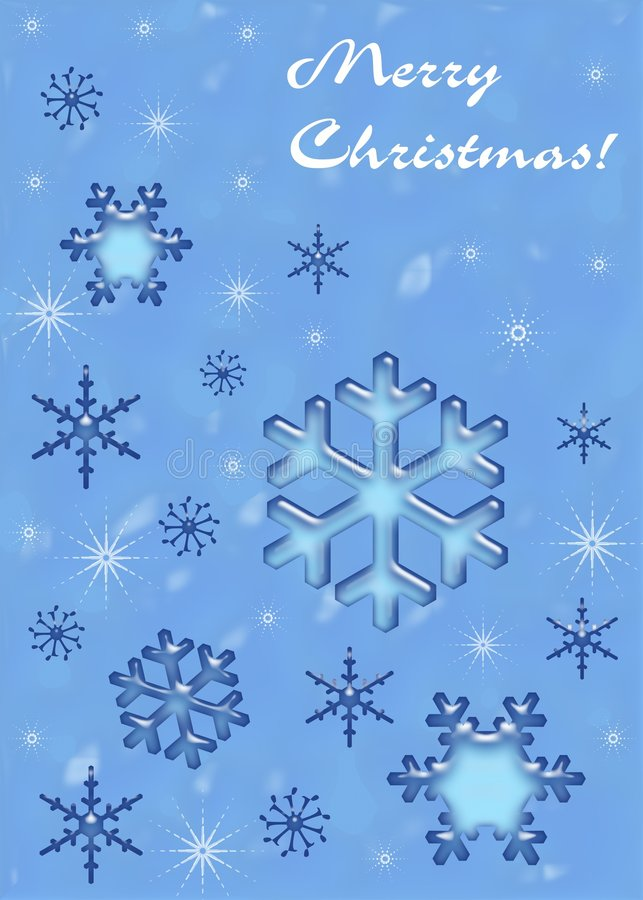 Flocos de neve do Natal ilustração stock