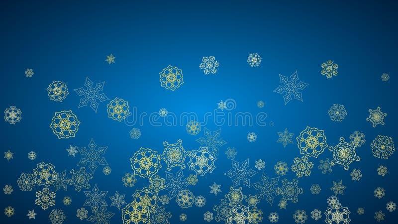Flocos de neve do Natal e do ano novo ilustração stock