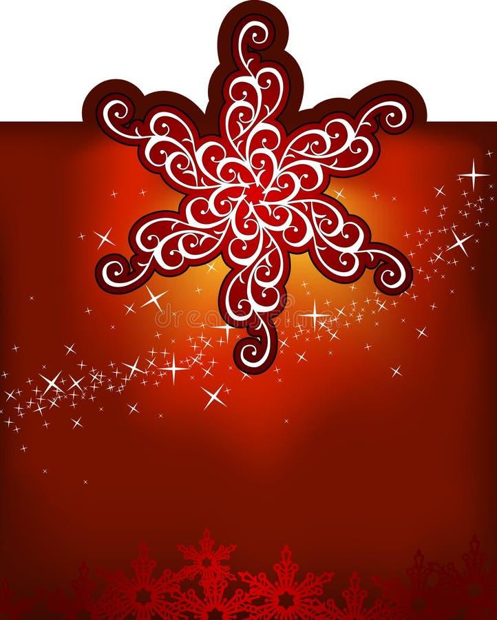 Flocos de neve do Natal/fundo do vetor ilustração do vetor