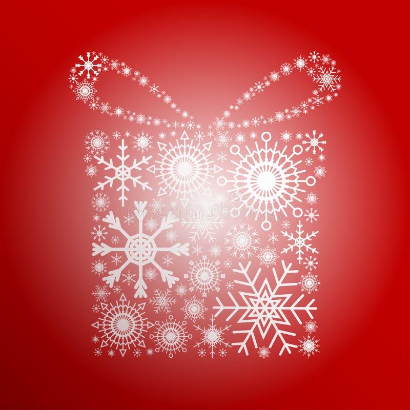 Flocos de neve do presente ilustração royalty free